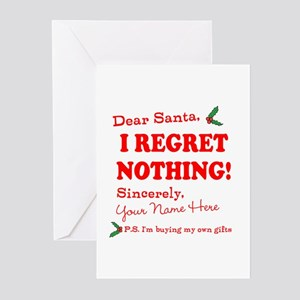 Dear Santa Claus Greeting Cards