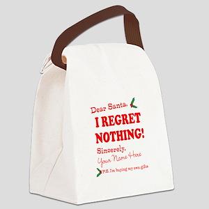 Dear Santa Claus Canvas Lunch Bag