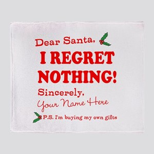 Dear Santa Claus Throw Blanket