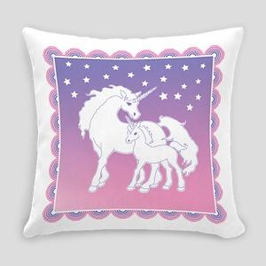 Stars and Unicorns Everyday Pillow