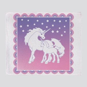 Stars and Unicorns Throw Blanket