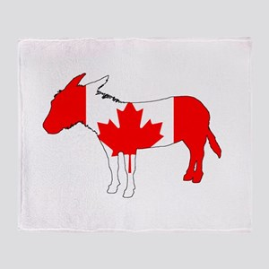 "Donkey ""Canada"" Throw Blanket"