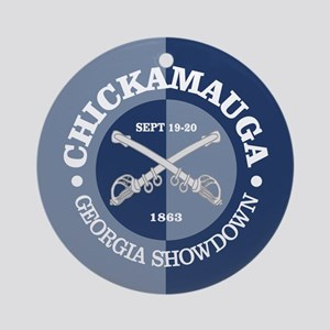 Chickamauga (blue-gray) Round Ornament