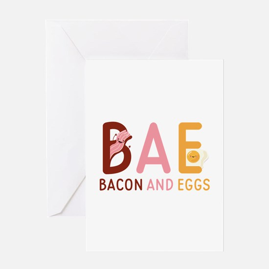 BAE Bacon And Eggs Greeting Card