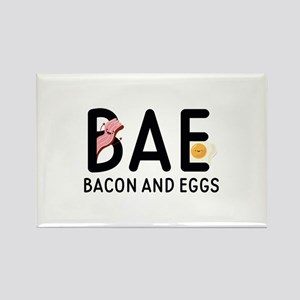 BAE Bacon And Eggs Rectangle Magnet
