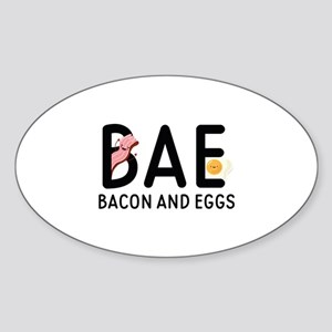 BAE Bacon And Eggs Sticker (Oval)