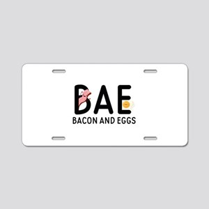 BAE Bacon And Eggs Aluminum License Plate