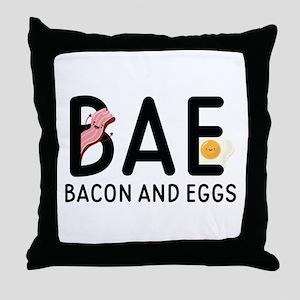 BAE Bacon And Eggs Throw Pillow