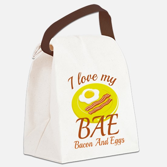 BAE Bacon And Eggs Canvas Lunch Bag