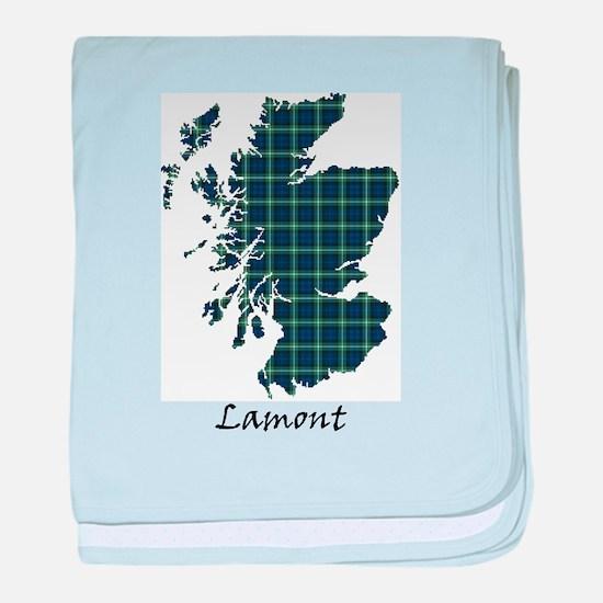 Map - Lamont baby blanket