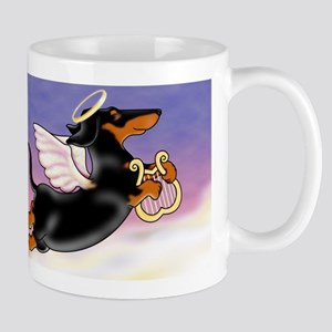 Black and Tab Doxie Angel Mugs