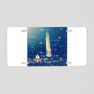 RightOn Washington DC Aluminum License Plate