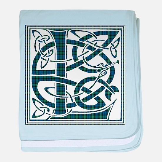Monogram - Lamont baby blanket