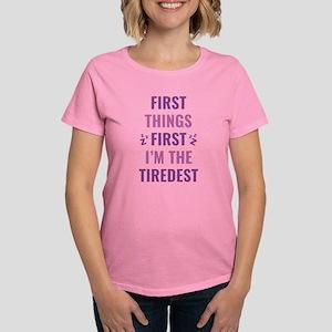 I'm The Tiredest Women's Dark T-Shirt