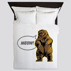 This Bear is Scary Queen Duvet