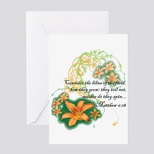 Lilies of the Field Greeting Cards