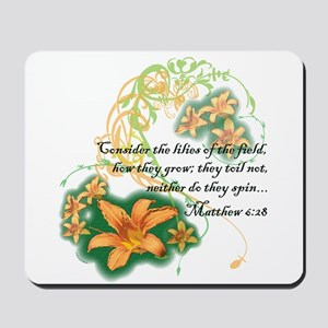 Lilies of the Field Mousepad