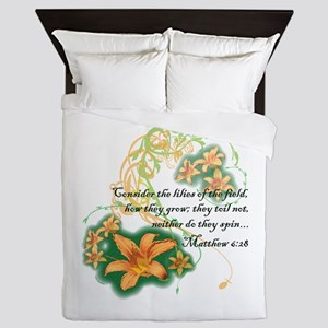 Lilies of the Field Queen Duvet