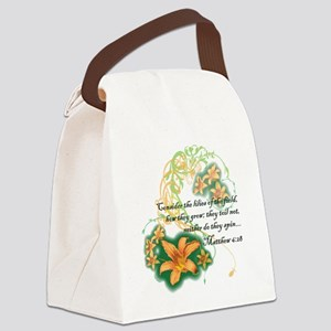 Lilies of the Field Canvas Lunch Bag
