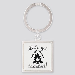 Let's Get Toasted Square Keychain