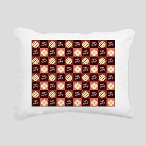 HAPPY HOLIDAYS Rectangular Canvas Pillow
