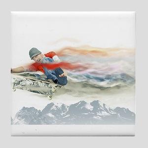 Skater in Motion Tile Coaster