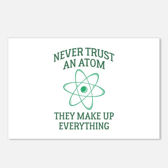 Never Trust An Atom Postcards (Package of 8)
