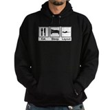 Eat sleep layout Dark Hoodies