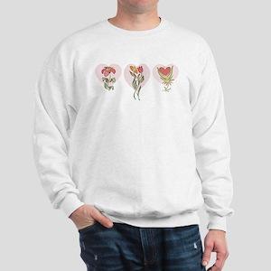 3 Flower Hearts Sweatshirt