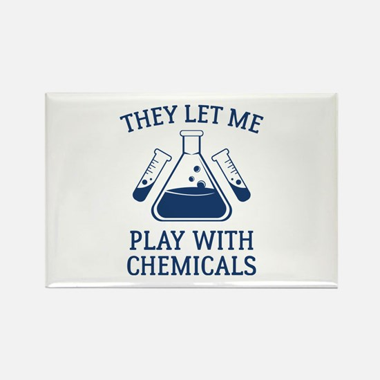Play With Chemicals Rectangle Magnet