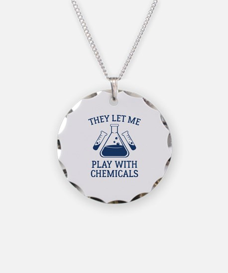 Play With Chemicals Necklace Circle Charm