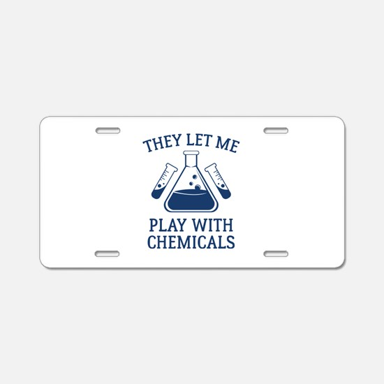 Play With Chemicals Aluminum License Plate