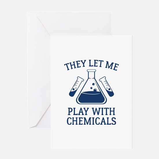 Play With Chemicals Greeting Card