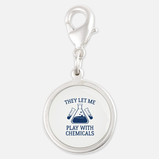 Play With Chemicals Silver Round Charm