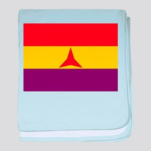 Flag of the International Brigades, S baby blanket