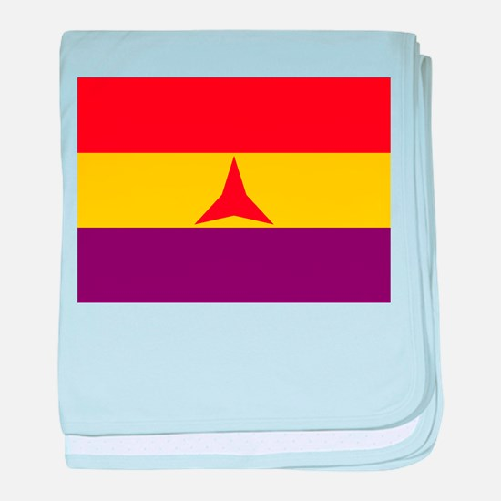 Flag of the International Brigades, S baby blanket