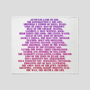 Names of Jesus Christ Throw Blanket