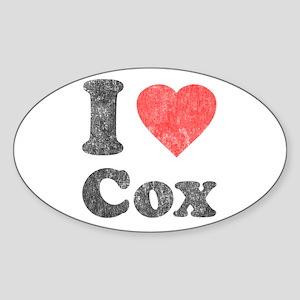 I Love Cox Oval Sticker