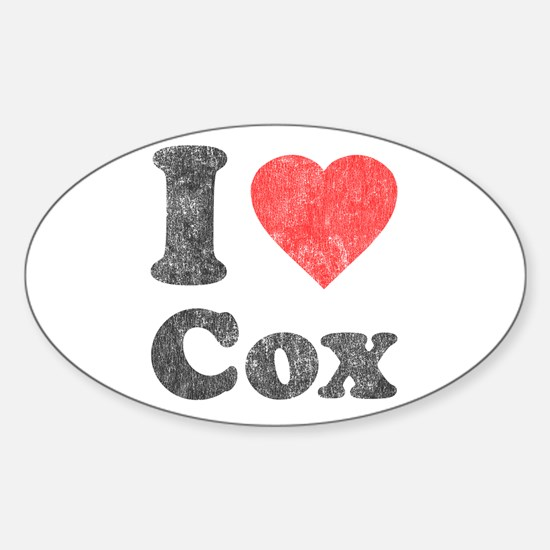 I Love Cox Oval Decal