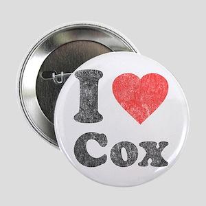 """I Love Cox 2.25"""" Button"""