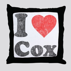 I Love Cox Throw Pillow