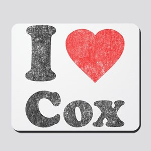 I Love Cox Mousepad
