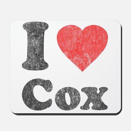 I Love Cox Mousepad