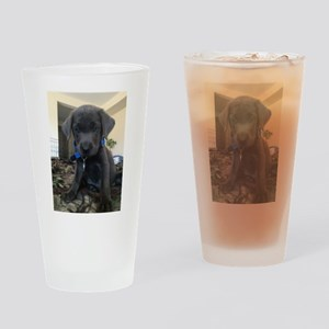 Charcoal labrador case Drinking Glass