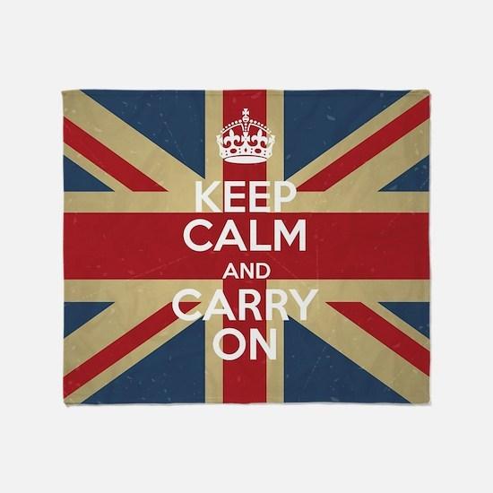 Cute Flag of england Throw Blanket