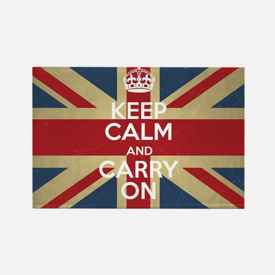 Cute Keep calm and carry on Rectangle Magnet