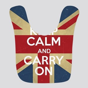 Keep Calm And Carry On Polyester Baby Bib