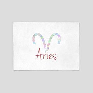 Aries (Zodiac symbol: Ram) (Candies 5'x7'Area Rug
