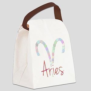 Aries (Zodiac symbol: Ram) (Candi Canvas Lunch Bag