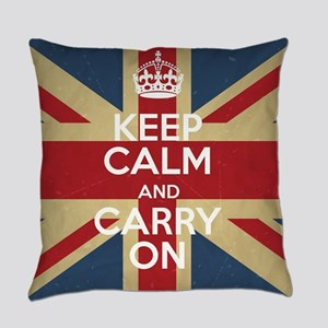 Keep Calm And Carry On Everyday Pillow